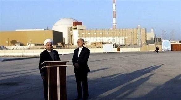الرئيس الإيراني حسن روحاني في زيارة لمنشأة نووية (أرشيف)