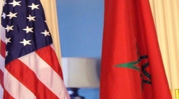 علم المغرب إلى جانب العلم الأمريكي (أرشيف)