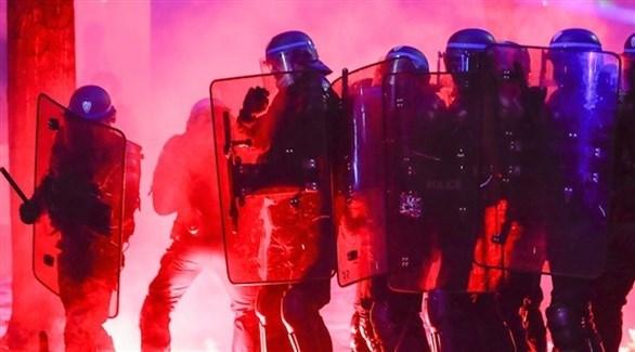 عناصر من الشرطة الفرنسية أثناء الاحتجاجات (ارشيف)