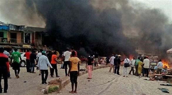 دخان متصاعد من هجوم سابق في نيجيريا (أرشيف)