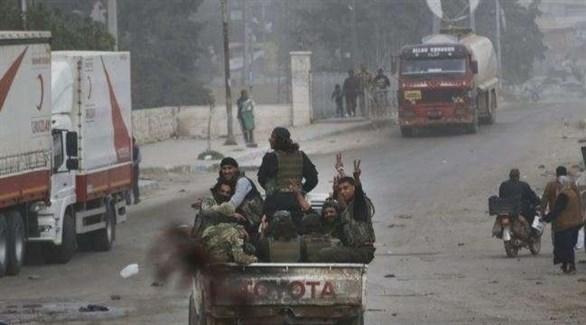 مسلحون من الفصائل الموالية لتركيا في عفرين (أرشيف)