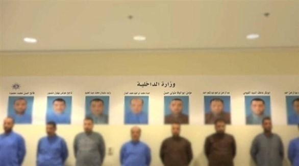 عناصر من خلية الكويت الإخوانية قبل ترحيلهم إلى القاهرة (أرشيف)