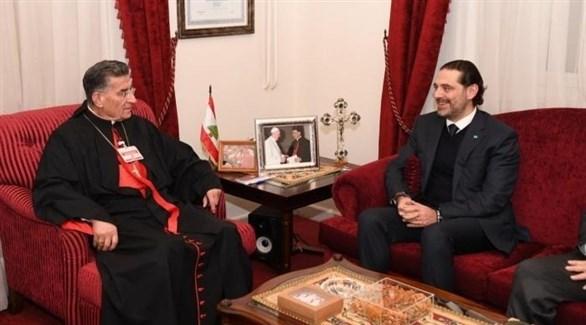 رئيس حكومة تصريف الأعمال الحريري، والبطريرك الماروني الراعي (أرشيف)