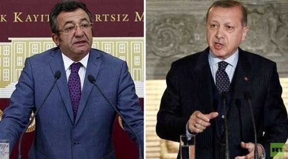 المعارض التركي أنجين ألتاي والرئيس رجب طيب أردوغان (أرشيف)