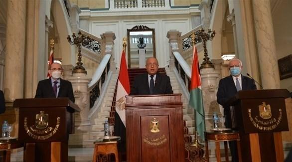 وزراء خارجية فلسطين ومصر والأردن (أرشيف)