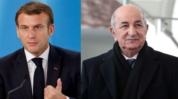 الرئيسان الجزائري عبدالمجيد تبون والفرنسي إيمانويل ماكرون (أرشيف)