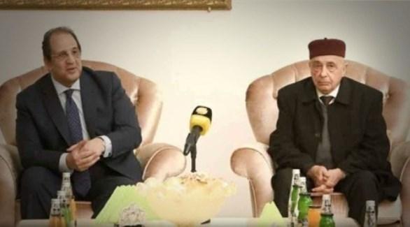 رئيس مجلس النواب الليبي ومدير المخابرات المصرية (بوابة إفريقيا)