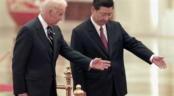 الرئيسان الصيني شي جين بينغ والأمريكي المنتخب جو بايدن (أرشيف)