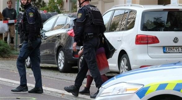 الشرطة الألمانية في مكان العملية (أرشيف)