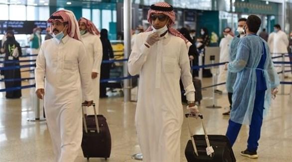 إجراءات صحية داخل أحد المطارات في السعودية (أرشيف)