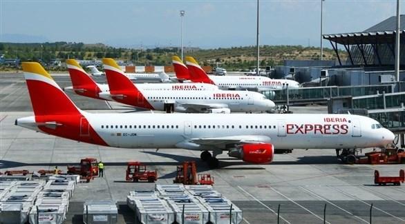 طائرات متوقفة في مطار مدريد (أرشيف)