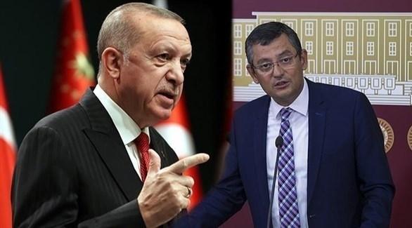 الرئيس التركي رجب طيب أردوغان والنائب أوزغور أوزيل.(أرشيف)