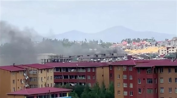 دخان يتصاعد في أديس أبابا (أرشيف)