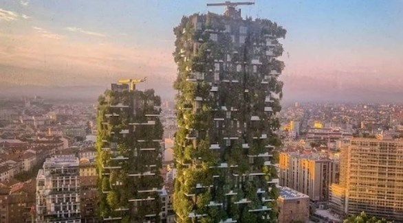 مجمع سكني محاط بالنباتات والأشجار وسط ميلان (أوديتي سنترال)