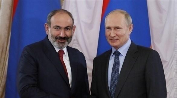 بوتين و رئيس وزراء أرمينيا نيكول باشينيان (أرشيف)