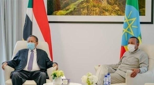 رئيسا وزراء السودان عبد الله حمدوك وأثيوبيا أبيي أحمد (أرشيف)