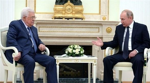 الرئيسان الروسي فلاديمير بوتين والفلسطيني محمود عباس (أرشيف)