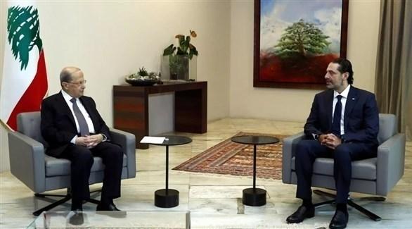 رئيس الحكومة اللبنانية المكلف والرئيس اللبناني (أرشيف)