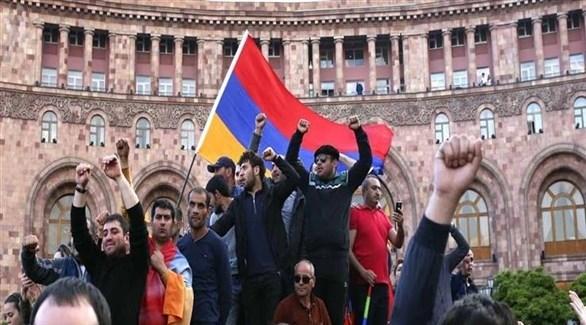 مظاهرات للمعارضة في أرمينيا (أرشيف)