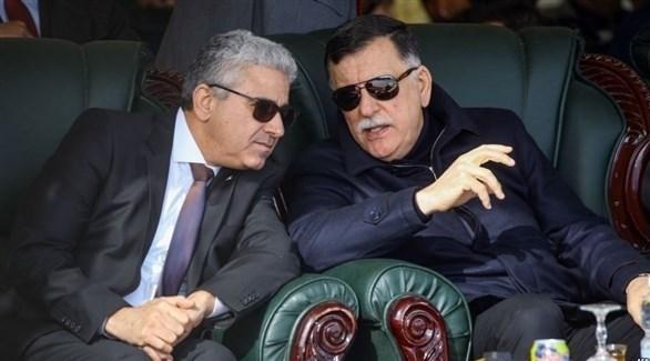 رئيس حكومة الوفاق السراج ووزير الداخلية باشاغا (أرشيف)