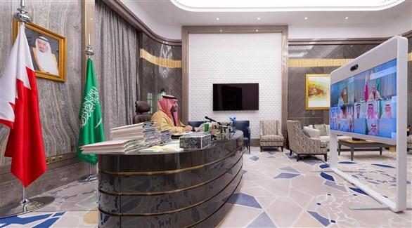 ولي العهد السعودي الأمير محمد بن سلمان في الدورة الأولى لمجلس التنسيق السعودي البحريني (واس)