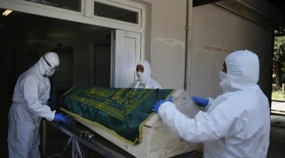 تشييع جثمان متوفى بكورونا في تركيا (أرشيف)