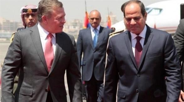 الملك عبدالله والرئيس عبدالفتاح السيسي (أرشيف)