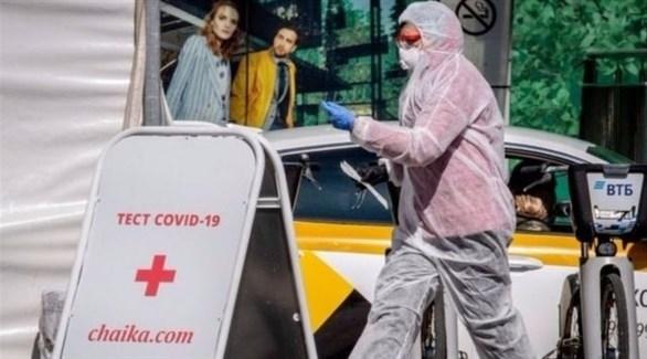 عامل في القطاع الصحي الروسي (أرشيف)