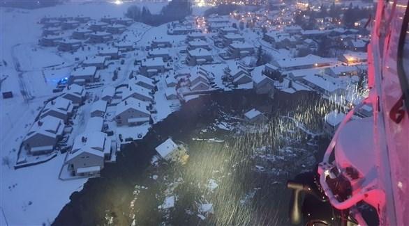 انهيارات أرضي في النرويج (تويتر)