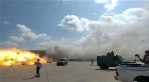 من هجوم مطار عدن (أرشيف)