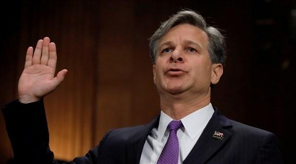 رئيس مكتب التحقيقات الاتحادي الأمريكي كريستوفر راي (أرشيف)