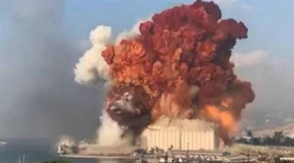 انفجار مرفأ بيروت في 4 أغسطس الماضي (أرشيف)