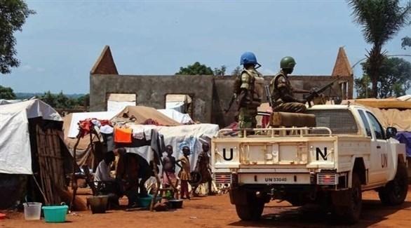 من عناصر بعثة الأمم المتحدة لحفظ السلام في أفريقيا (أ ف ب)