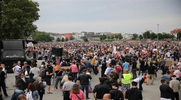 مظاهرات ضد قيود كورونا في ألمانيا (أرشيف)