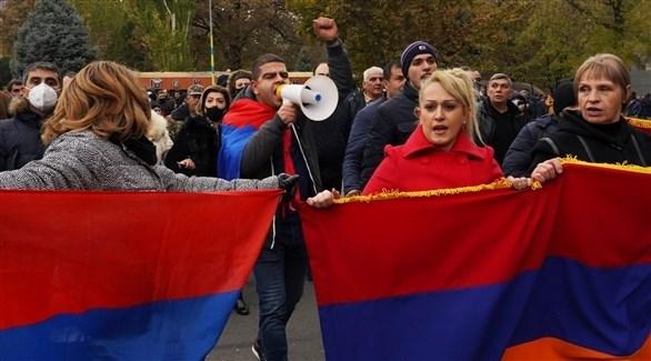 جانب من المظاهرة (رويترز)