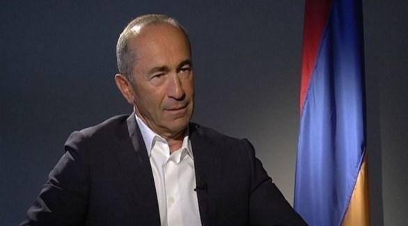 الرئيس الأرمني السابق روبرت كوتشاريان (أرشيف)