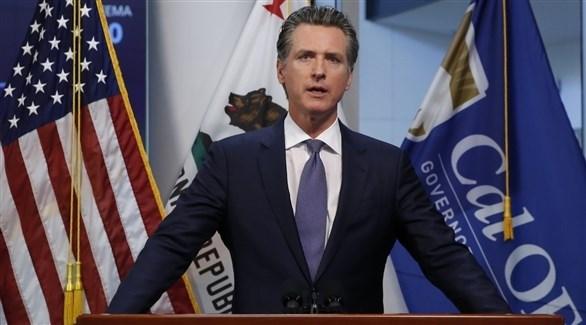 حاكم ولاية كاليفورنيا جافين نيوسوم (أرشيف)