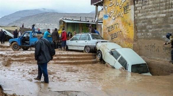 سيول جارفة في جنوب إيران (أرشيف)