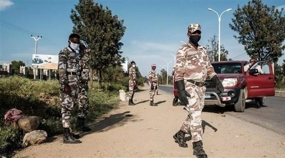 جنود من الجيش الإثيوبي في إقليم تيغراي (أرشيف)