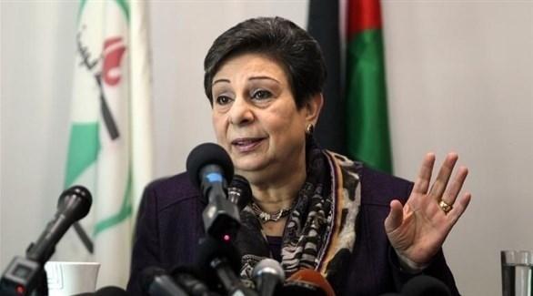 عضو اللجنة التنفيذية لمنظمة التحرير الفلسطينية المستقيلة حنان عشراوي (أرشيف)