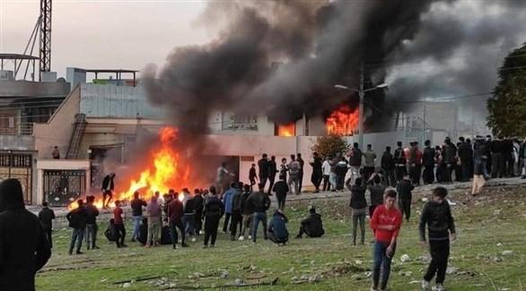محتجون عراقيون في السليمانية (تويتر)