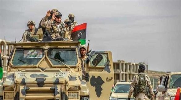 قافلة عسكرية للجيش الليبي (أرشيف)