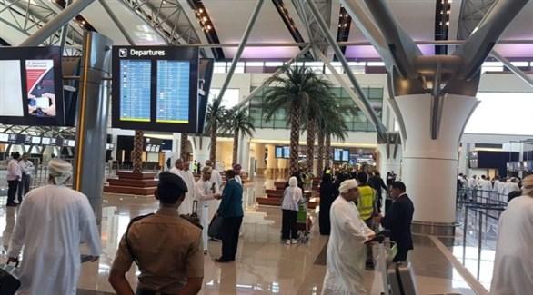 مسافرون في مطار مسقط (أرشيف)