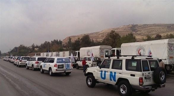 قافلة مساعدات أممية إلى سوريا (أرشيف)