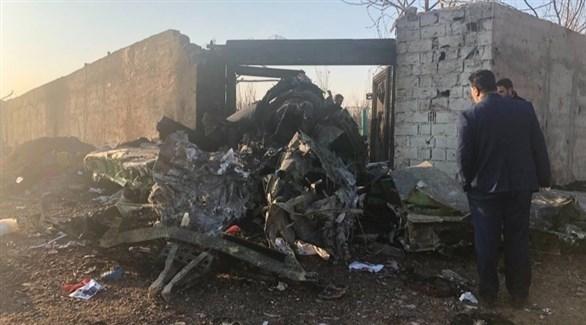 حطام الطائرة الأوكرانية (أرشيف)