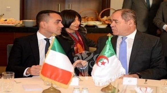 وزيرا خارجية الجزائر وإيطاليا صبري بوقادوم ولويجي دي مايو (وكالة الأنباء الجزائرية)