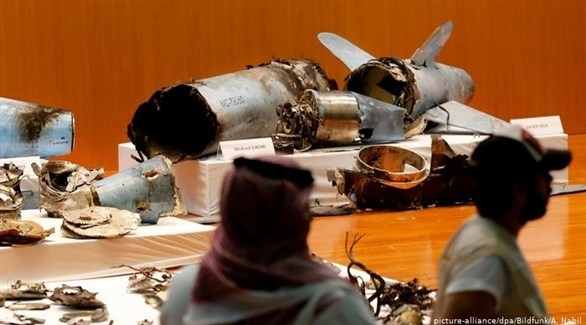 جانب من حطام الصواريخ الذي استهدف السعودية (أرشيف / د ب أ)