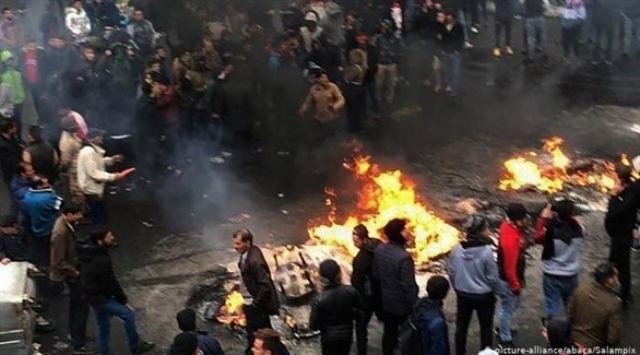 الاحتجاجات في الشارع الإيراني (أرشيفية)