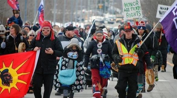 متظاهرون من السكان الأصليين في كندا (أرشيف)