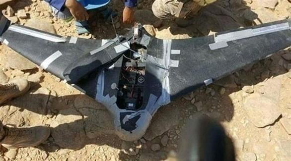طائرة مسيرة للحوثيين بعد إسقاطها من قبل القوات المشتركة اليمنية (أرشيف)